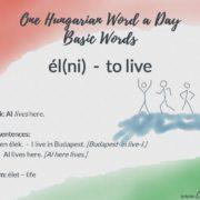 élni - to live