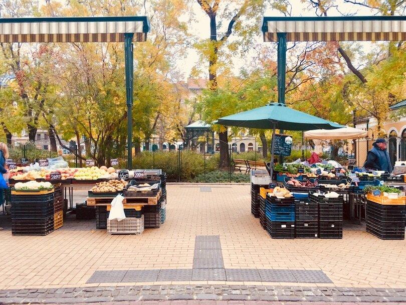 Budapest Markets - Hunyadi Square Market - Farmer Market outside