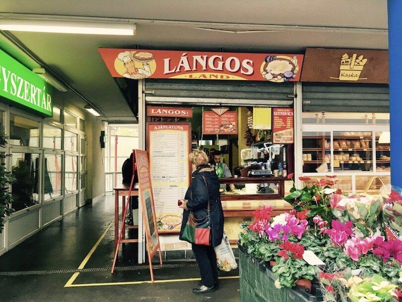 Budapest Markets - Fény Street Market - Langos Land