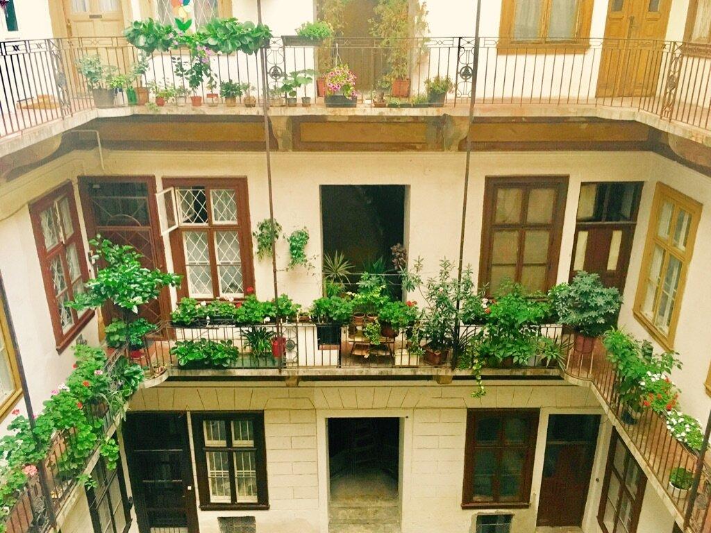 Budapest courtyard