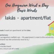 lakás - apartment